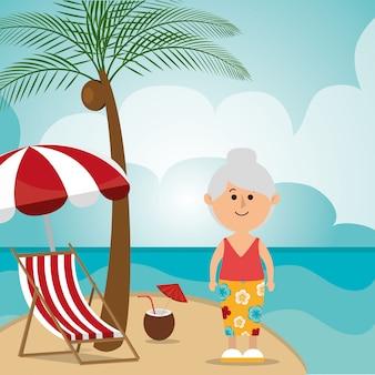 夏、休暇、旅行