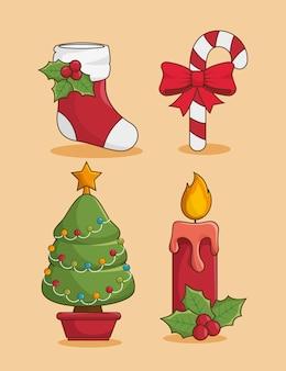 クリスマスのアイコンを設定