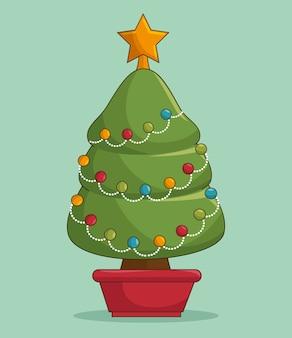 クリスマスツリーのクリップアート