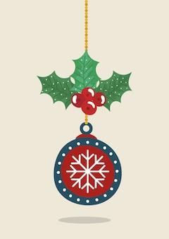 メリークリスマスデコレーションのボールぶら下げ