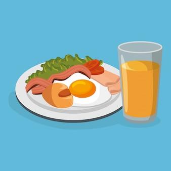おいしい食べ物の朝食