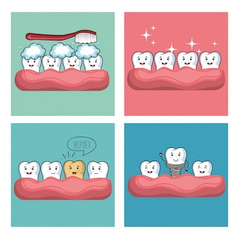 Уход за зубами каваи коми персонаж