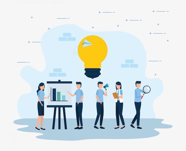 ビジネス分析統計ベクターデザイン