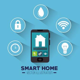 スマートハウスとそのアプリケーション分離アイコン