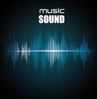 音楽サウンドの背景デザイン