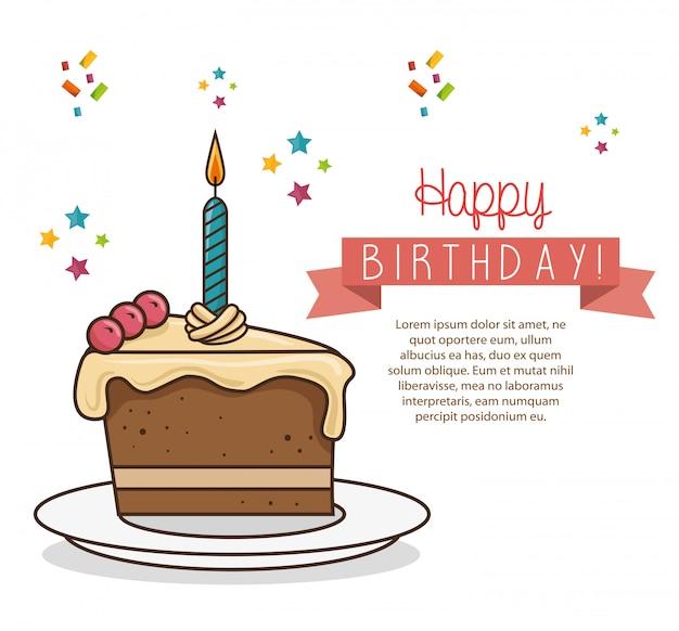 お誕生日おめでとうデザイン分離