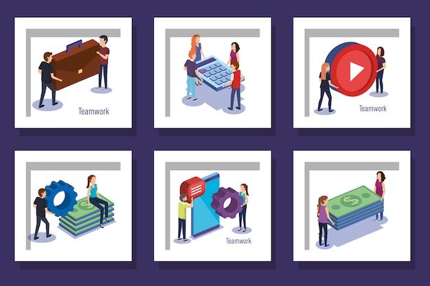 Проекты устанавливают командную работу с людьми и значками