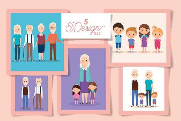 Пять дизайнов бабушек и дедушек с внуками
