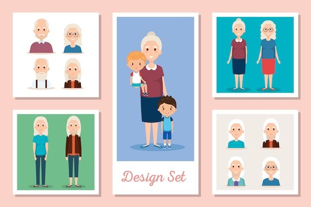 Проекты устанавливают сцены бабушки и дедушки с внуками