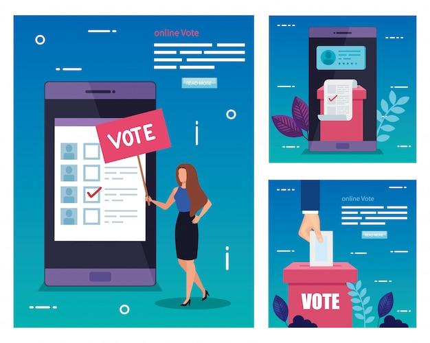 Установить иллюстрацию голосования
