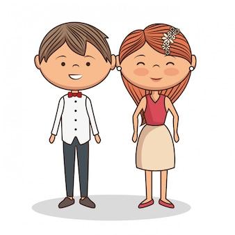 素敵なカップルのバレンタインデー