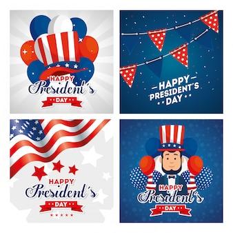 アメリカハッピープレジデントデーアメリカアメリカ独立国アメリカ国と国民カード