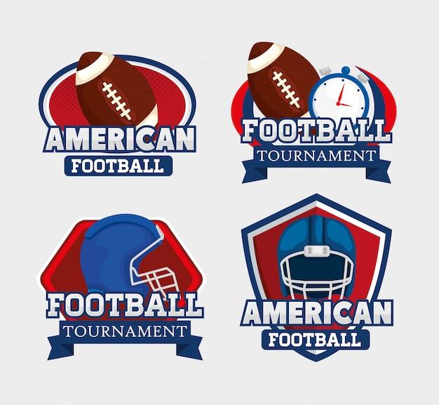 アメリカンフットボールのロゴを設定
