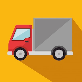 Значок службы доставки грузовик