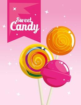 ロリポップとキャンディショップのポスター