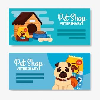 Установить постер зоомагазина ветеринарный с иконками