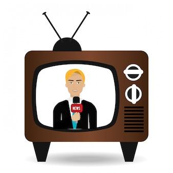 Журналист в телевизоре