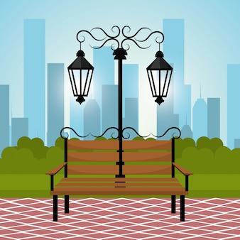 Дизайн городского парка.