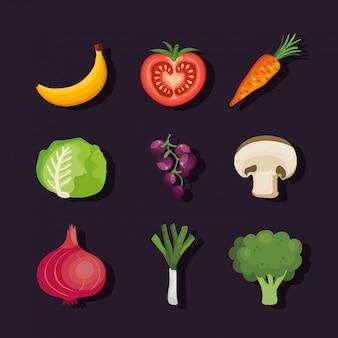 Набор овощей и фруктов