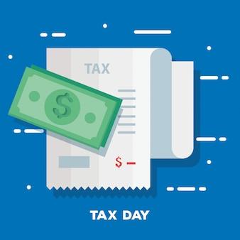 Иллюстрация налогового дня с ваучером