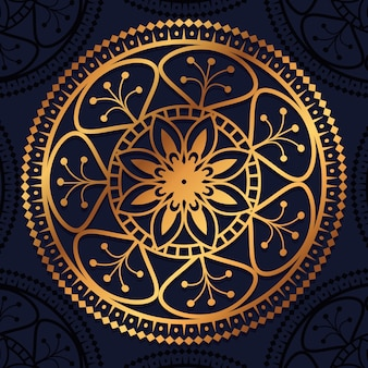 黄金の曼荼羅の装飾アイコン