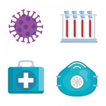 ウイルスと医療要素セット