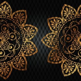黄金の曼荼羅パターンの背景