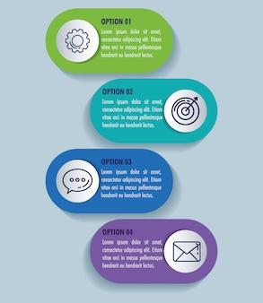 Статистическая инфографика с бизнес иконы