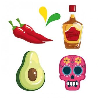 Набор иконок традиционных синко де майо