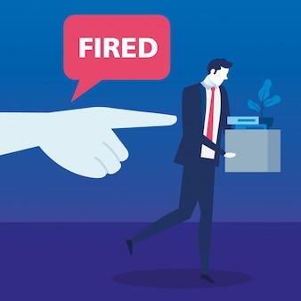 Сцена уволенного бизнесмена аватара