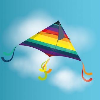 Воздушный змей и детский дизайн.