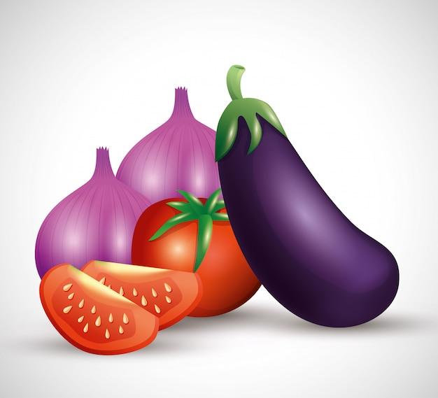 新鮮な有機野菜、健康食品、健康的なライフスタイル、食事