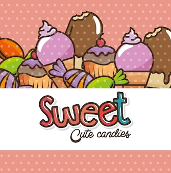 かわいいお菓子と菓子漫画
