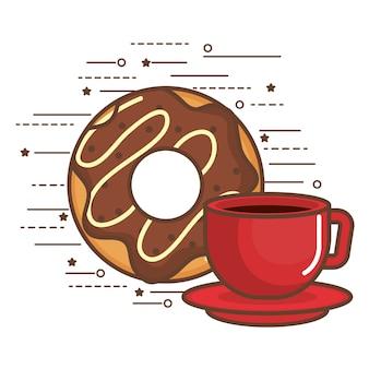 Пончик и кофе