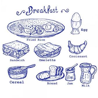 朝食のいたずら書き