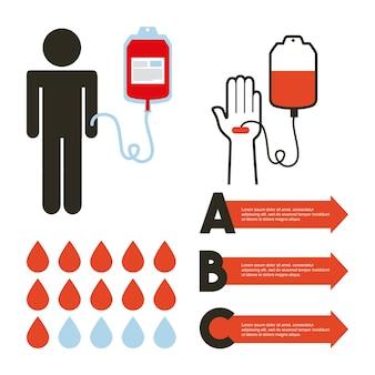 寄付血液コンセプトのインフォグラフィックプレゼンテーション