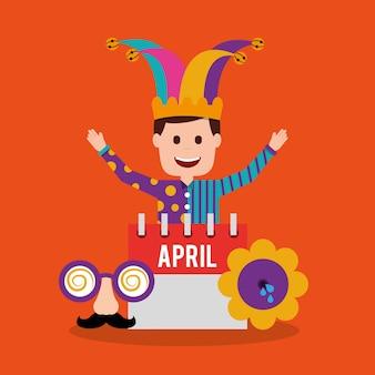 Счастливый джокер с календарем