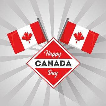 Счастливый символ дня канады флаг национальный символ