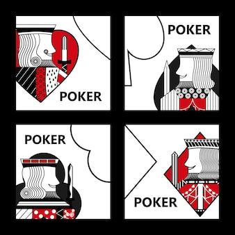 ポーカーカードサインキングカジノギャンブルセット