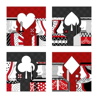 ポーカーカードカジノのセット