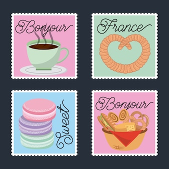 Открытки французской парижской карточки