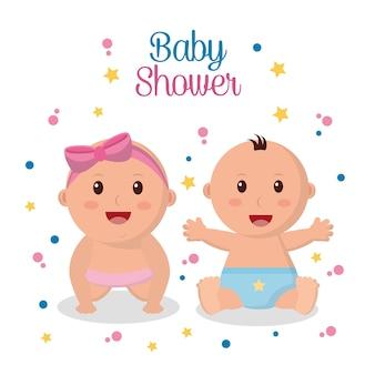 ベビーシャワーグリーティングカード