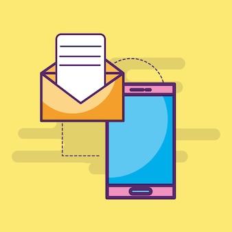 スマートフォン電子メールメッセージレター送信