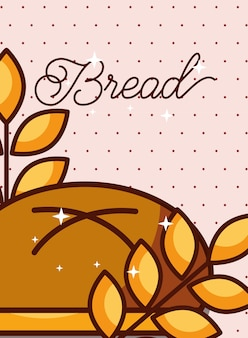 パン小麦の耳の点在の背景ポスター