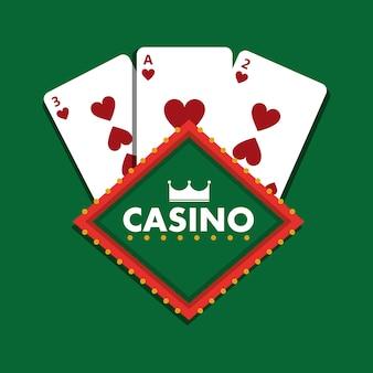 カジノクラブのトランプカード緑の背景