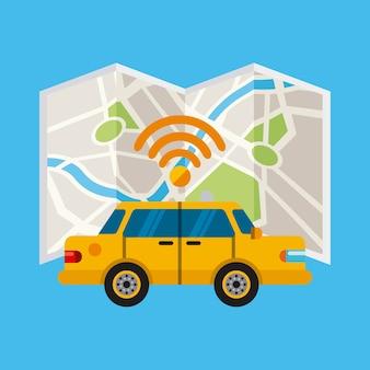 タクシーのオンラインデザイン