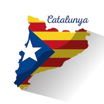 カタロニアの国旗ヨーロッパのスペイン
