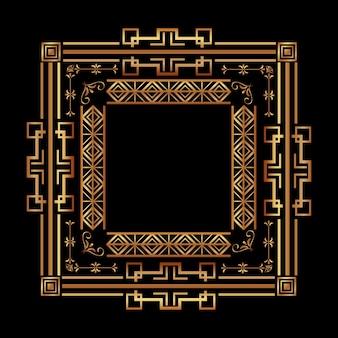 Антикварная рамка в стиле арт-деко филигранный орнамент
