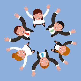 Группа людей бизнес вокруг круга
