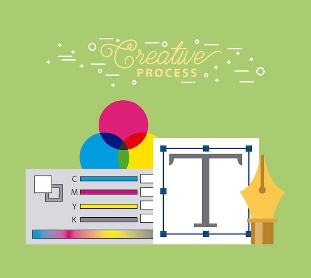 創造的なプロセスグラフィックデザインツールを設定する